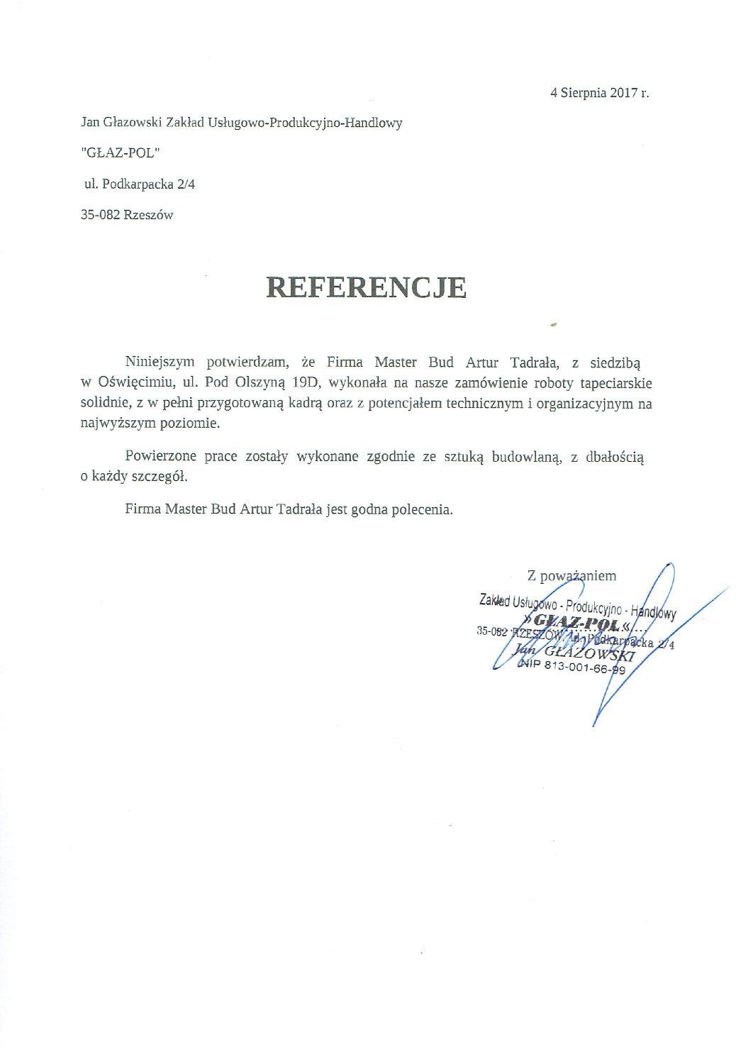 Referencje Głaz-Pol